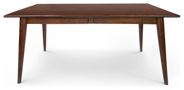 Dalton Wood Desk With Drawers