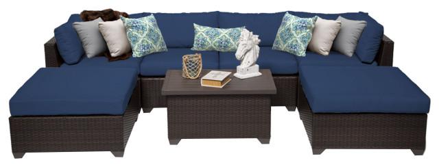 Belle 7 Piece Outdoor Wicker Furniture Set 07B