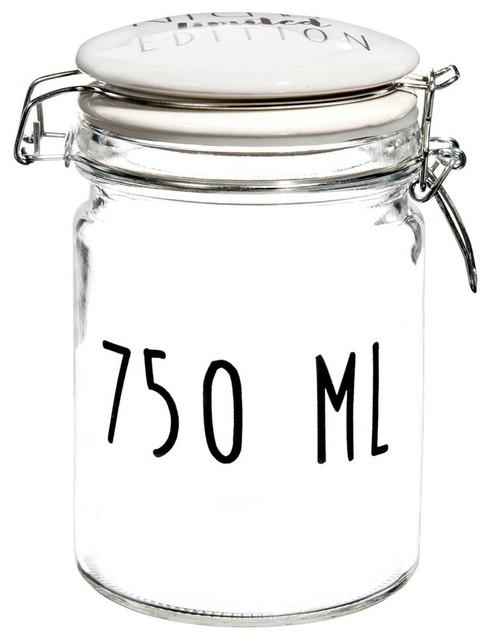 Barattolo 750 Ml In Vetro H 15 Cm Kitchen Limited Contemporaneo