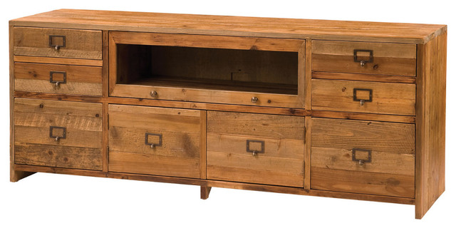 Maxwell Media Console - Traditional - Media Cabinets - by Marco Polo Imports
