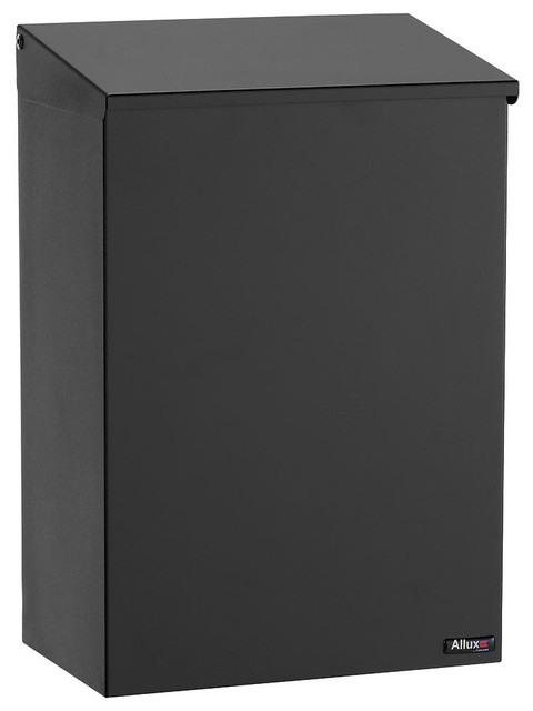 allux 100 top loading wall mount mailbox black - Wall Mount Mailboxes