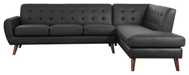 ACME Essick II Sectional Sofa, Black PU