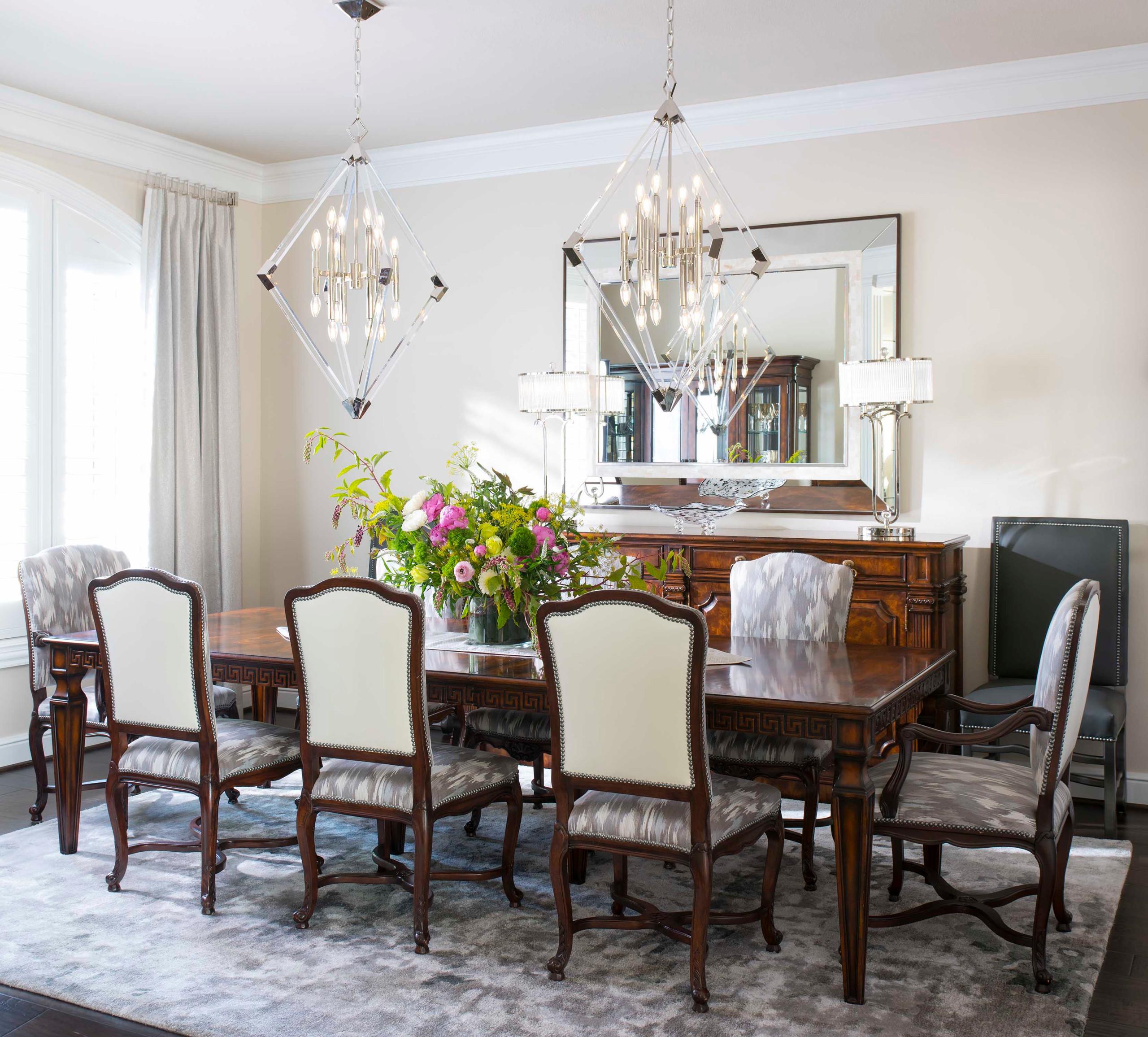 Modern Mediterranean Formal Dining Room