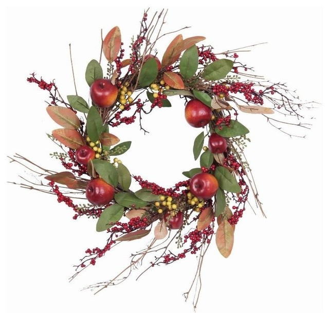 Apple And Berry Wreath.