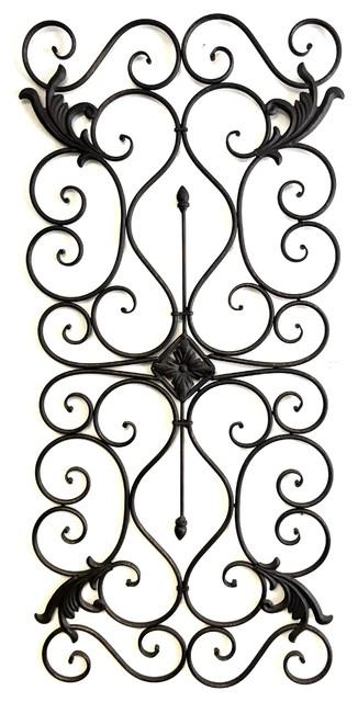 "Tuscan Metal Wall Art patrizio tuscan 33"" scrolling iron wall grille - traditional"