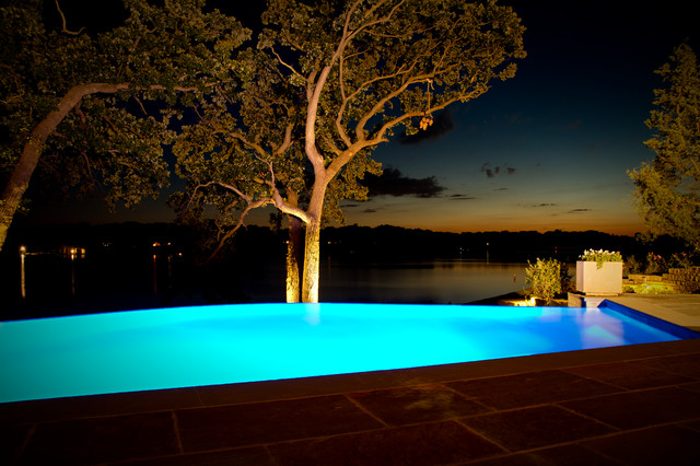 Lake House Infinity Edge Pool And Integrated Spa Modern Pool Chicago By Quantus Pools
