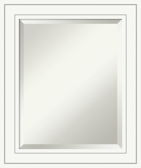 Bathroom Mirror Craftsman White Transitional Bathroom