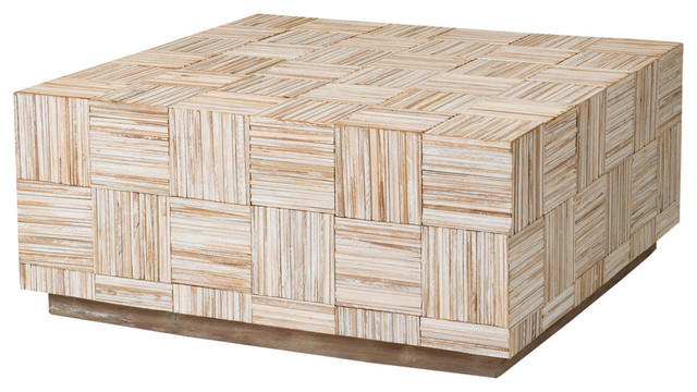East At Mainu0027s Ashford Off White Teakwood Square Coffee Table  Transitional Coffee Tables