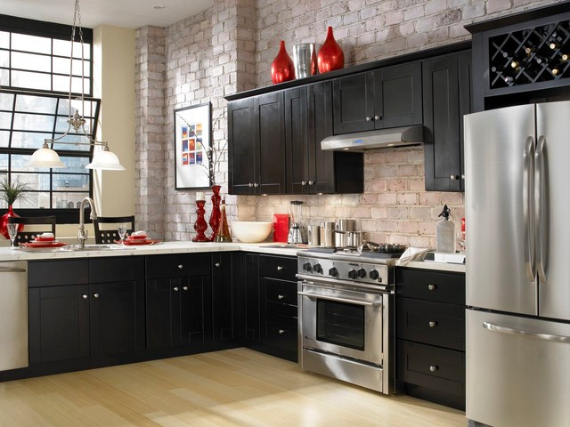 Findley & Myers Knob Hill Espresso Kitchen Cabinets ...