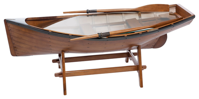 Brown Rowing Boat Tea Table Coastal Coffee Tables By Artesania Esteban Ferrer