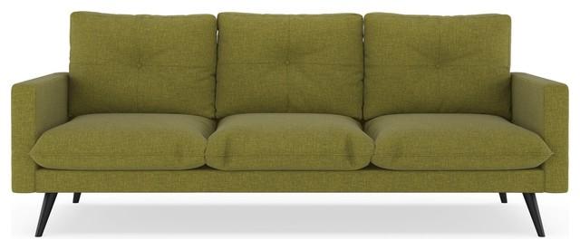 Madison Sofa Cross Weave, Olive Green.
