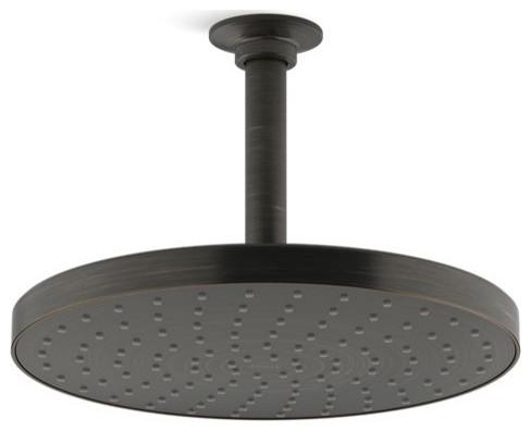 """Kohler Awaken 10"""" 1.75GPM Rainhead, Oil-Rubbed Bronze"""
