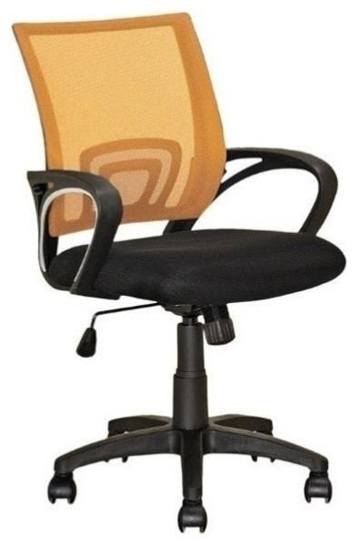 Superb Atlin Designs Swivel Office Chair In Orange And Black Ncnpc Chair Design For Home Ncnpcorg