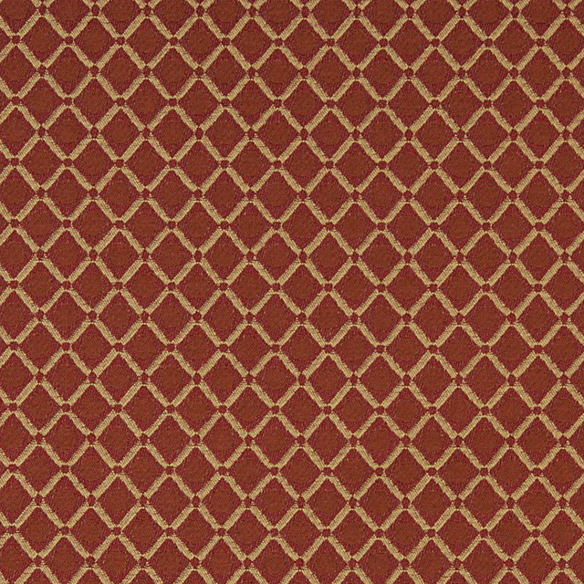 Orange Red And Gold Polka Dot Diamond Contract Upholstery