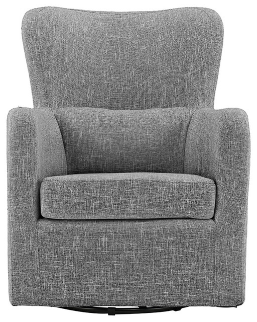 Modern Contemporary Armchair, Swivel Accent Chair, Light Gray