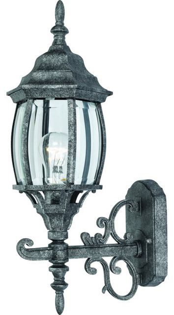 Antique Silver Outdoor Patio Porch Exterior Light Fixture Traditional Wall Lights