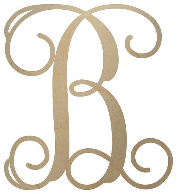 unfinished wooden monogram letter 18