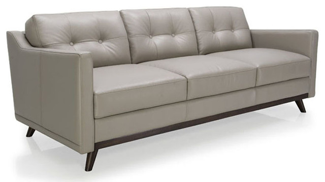 Moroni Monika Leather Sofa Argent
