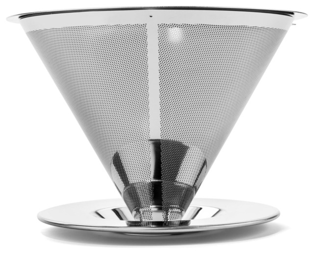 Bartelli Pour Over Coffee Dripper, Stainless Steel Reusable Coffee Filter