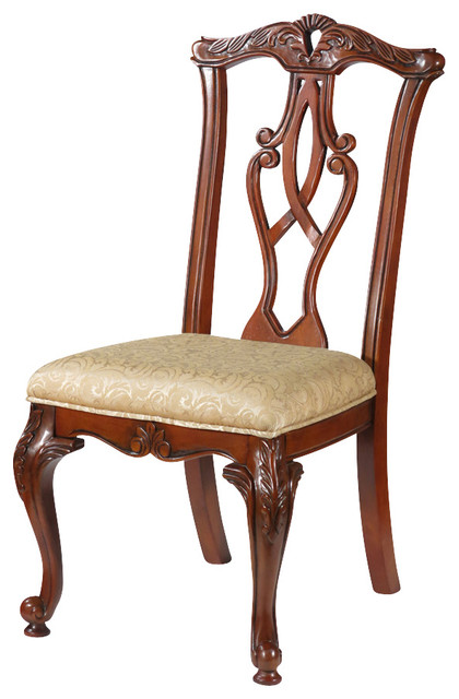 Traditional Dining Chairs pair of 2 solid cherry chippendale dining side chairs