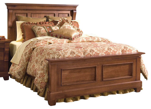 Kincaid Tuscano Solid Wood Panel Bed - Traditional - Panel Beds ...