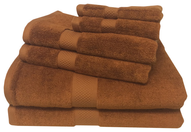 Super Soft Bamboo Cotton Blend 6 Piece Towel Set