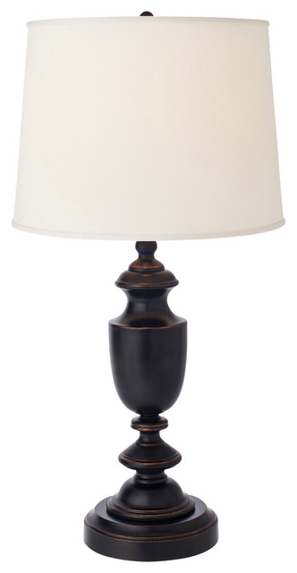 Baluster Antique Bronze LED Rechargeable Battery Operated Table Lamp