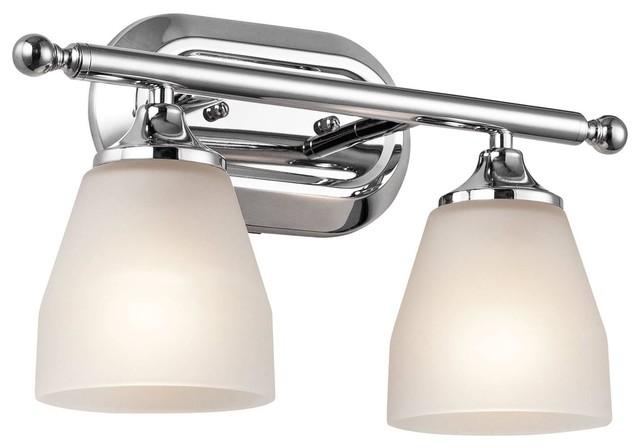 Kichler Ansonia 2-Light Bathroom Lighting Fixture, Chrome