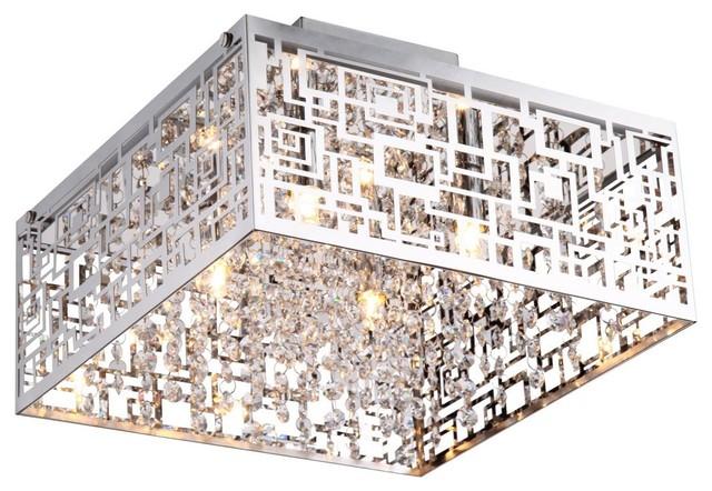 Metropolitan Crystals Flush Mount Light Square