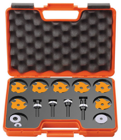 Slot Cutter Set In Carrying Case, 8mm Bore.