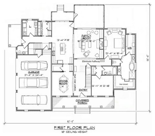 house floor plans no hallways. I will post the revised plan without hallway in next  A third be a picture of house as built with Eliminate It s crunch time please help