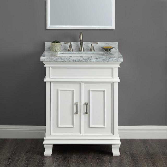 "Mission Hills Middleton 28"" Bath Vanity With Sink, White"