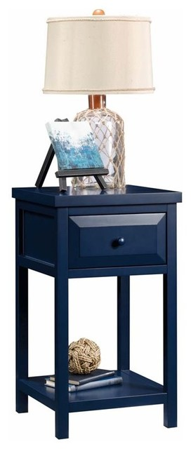 Cottage Road Side Table, Indigo Blue.
