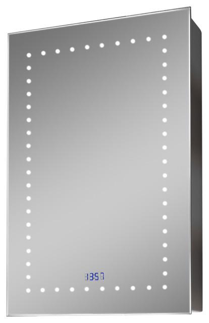 K383 Color Change Led Cabinet With Digital Clock, Shaver Socket And Demister.