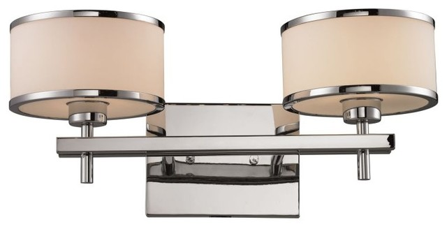 Utica 2-Light Bath, Polished Chrome