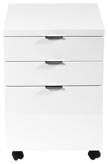 Gilbert File Cabinet, White Lacquer.