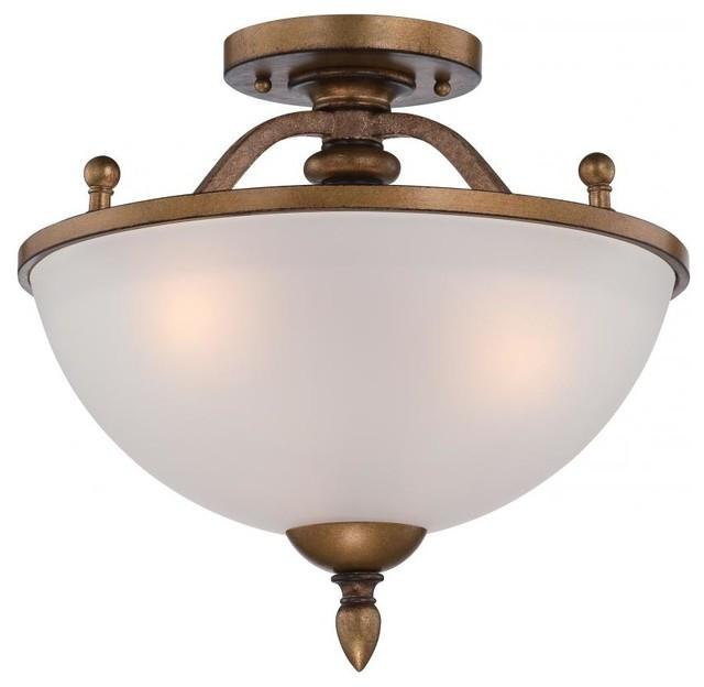 isla 3 light semi flush mount in aged brass rustic flush mount ceiling. Black Bedroom Furniture Sets. Home Design Ideas
