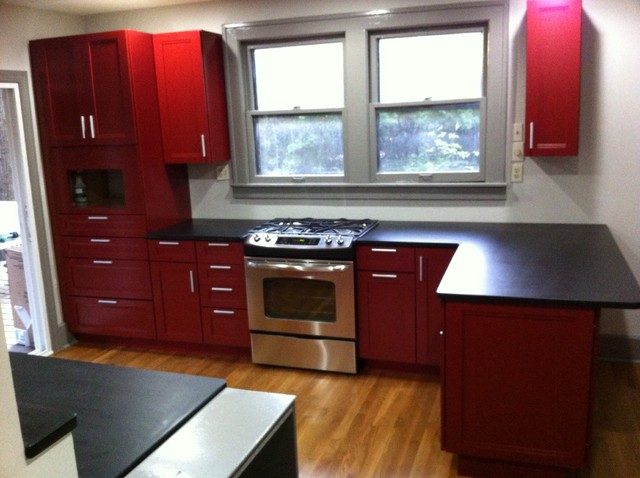 Cardinal red kitchen cabinets - Modern - Kitchen - Other ...