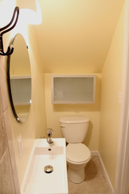 dennis under stairs bathroom contemporary