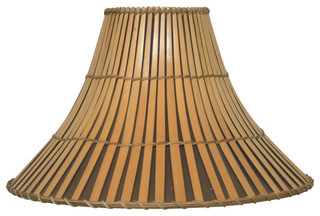 Wicker split bamboo lamp shade asian lamp shades by lamps and more aloadofball Gallery