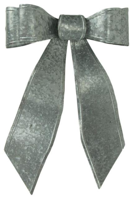 Galvanized Metal Bow Christmas Holiday