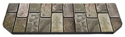 Ny Hearth 12x48 Western Flag Stone Hearth Pad, Standard.