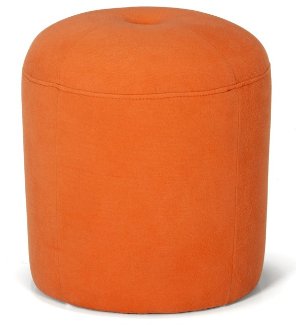 magou pouf orange d38cm contemporain repose pieds. Black Bedroom Furniture Sets. Home Design Ideas