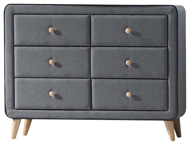 Acme Valda Dresser, Light Gray Fabric.