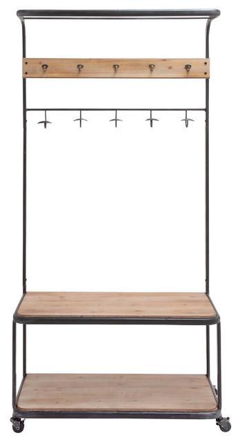 metal wood clothes rack