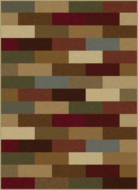 Alex Contemporary Abstract Multi-Color Rectangle Area Rug, 7.6&x27; X 10&x27;.