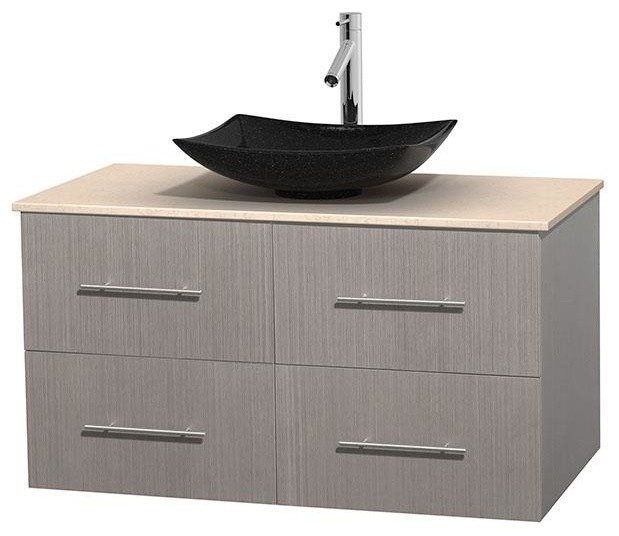 photos of black and white bathrooms 42 in single bathroom vanity in gray oak ivory marble 25668