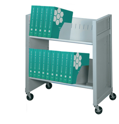 Mini File Cart, 2 Letter/legal Size Shelves, Gray Mist.