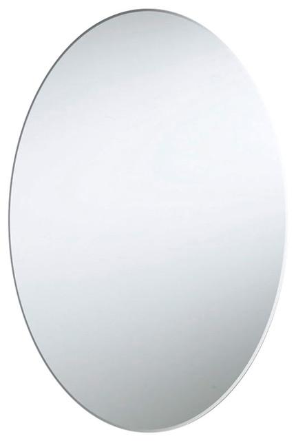"Dainolite 28""x23"" Oval Backlit Mirror, 24 Watts, Mled-2328e-Blt."
