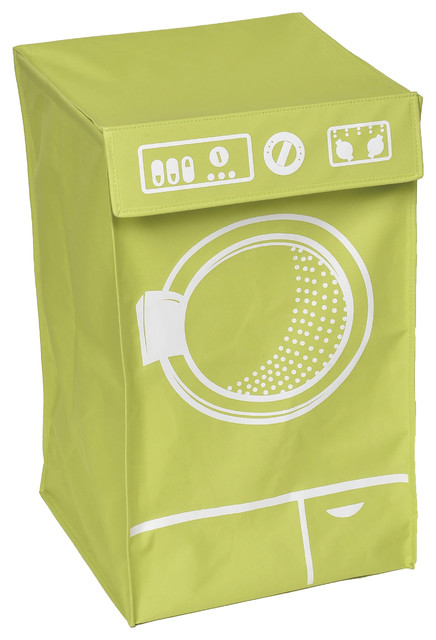 Laundry Hamper Bag Basket Washing Top Flap, Polyester And Fiberglass.